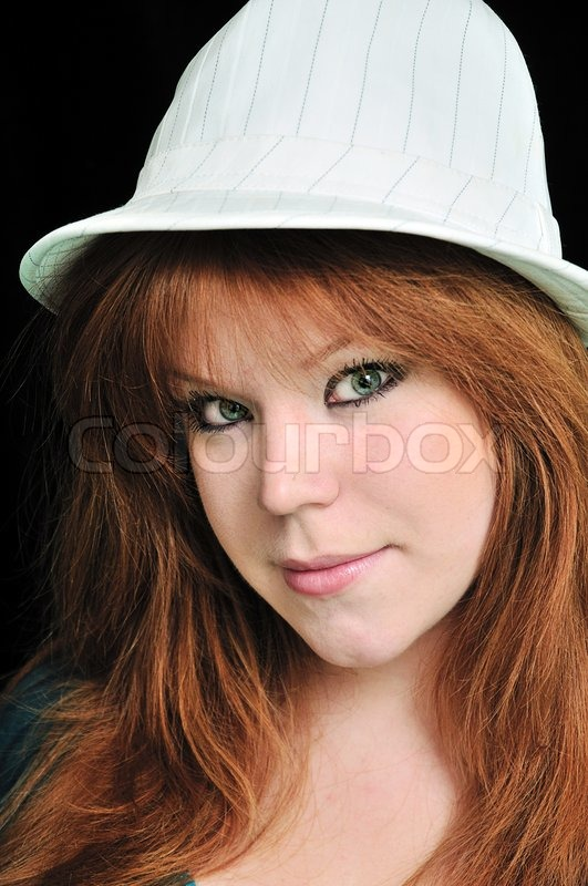 Stock image of 'Girl wearing hat'