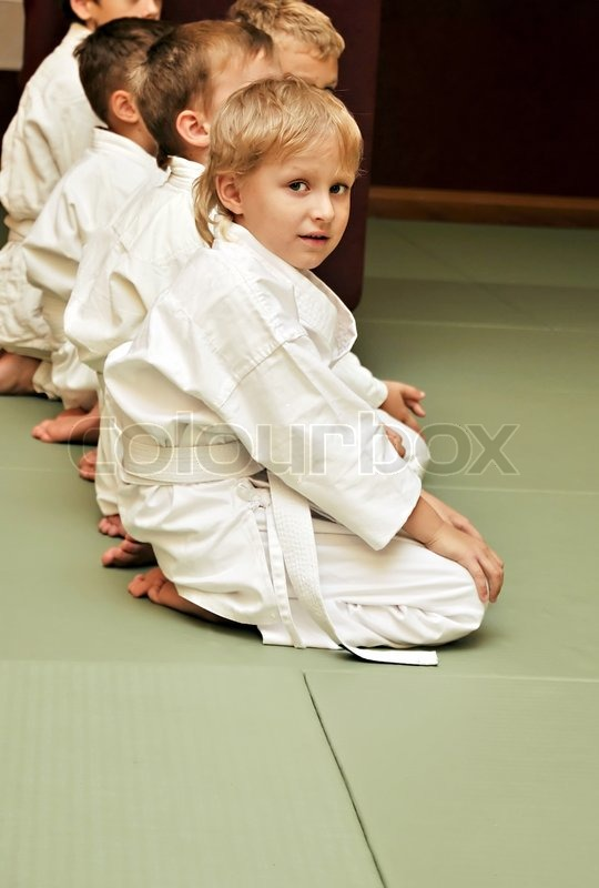 Stock image of 'Aikido boys'