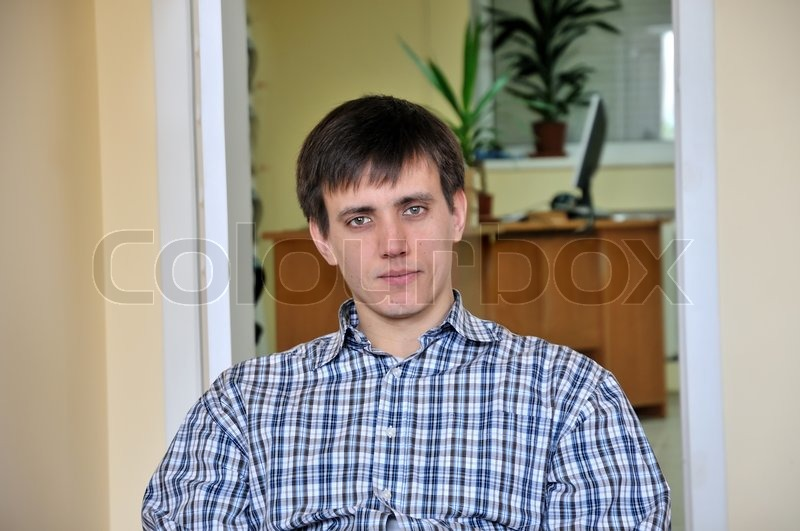 Stock image of 'Man in office'
