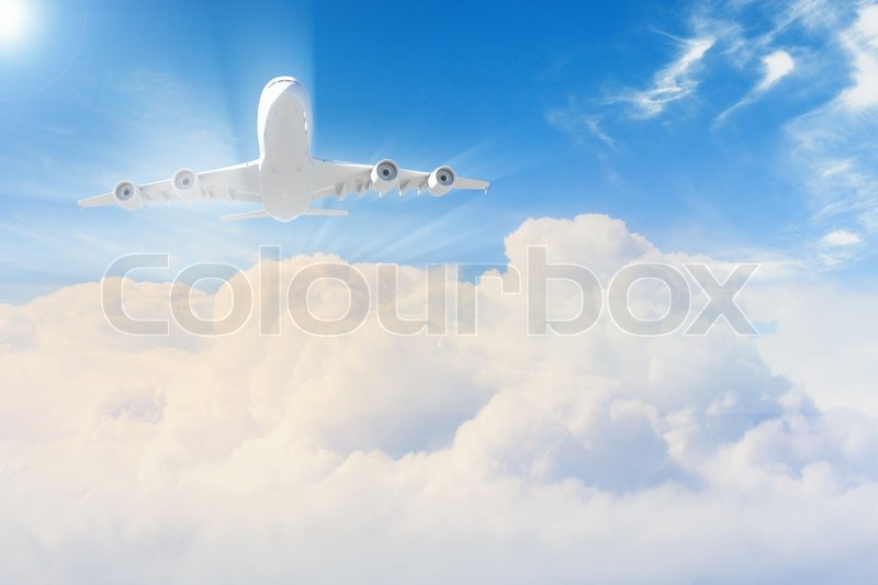 Stock image of 'Image of airplane in sky'