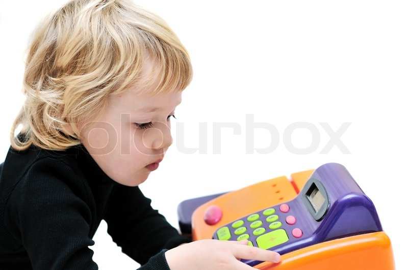 Stock image of 'Little cashier'