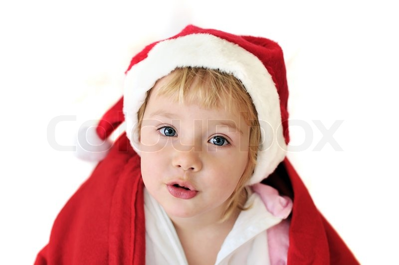 Stock image of 'Funny santa girl'