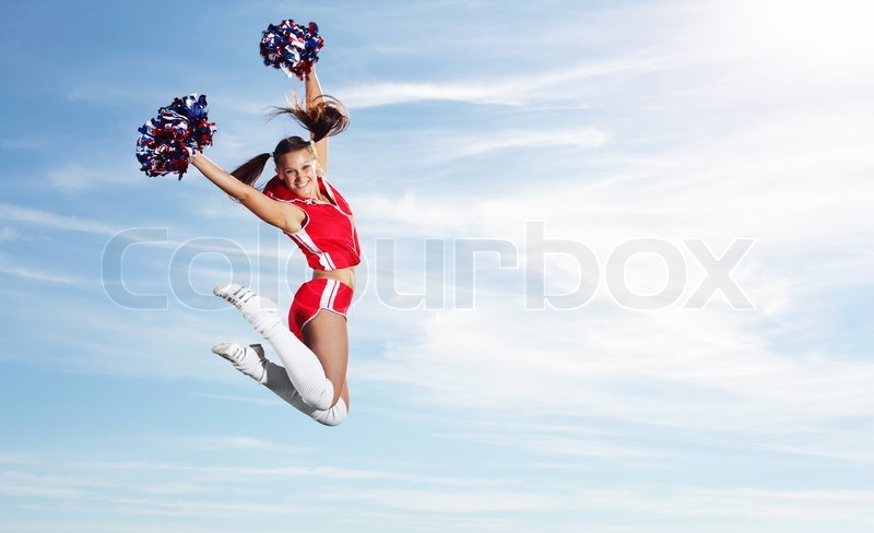 Stock image of 'Young female cheerleader'