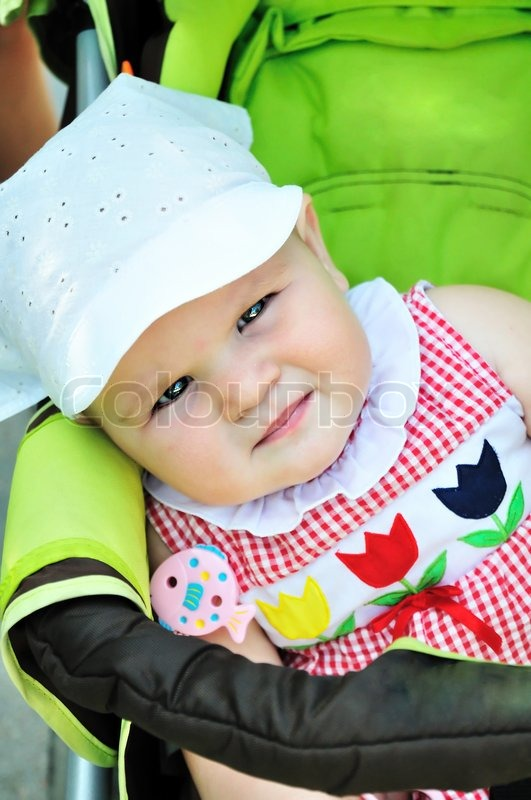 Stock image of 'Serious baby'