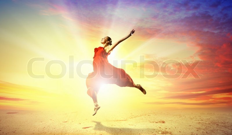 Stock image of 'Female ballet dancer'