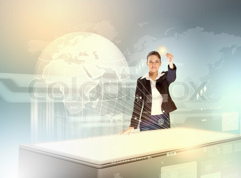 Stock image of 'Business and communication innovations'