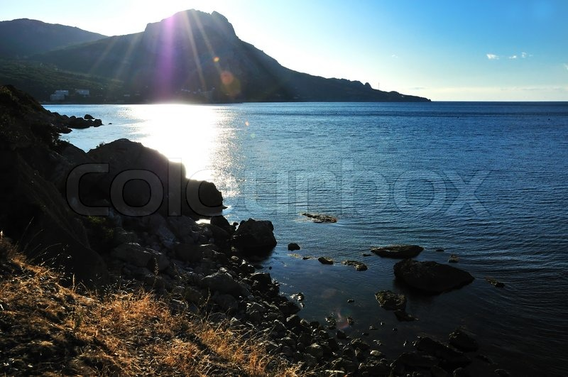 Stock image of 'Autumn sun on the sea'