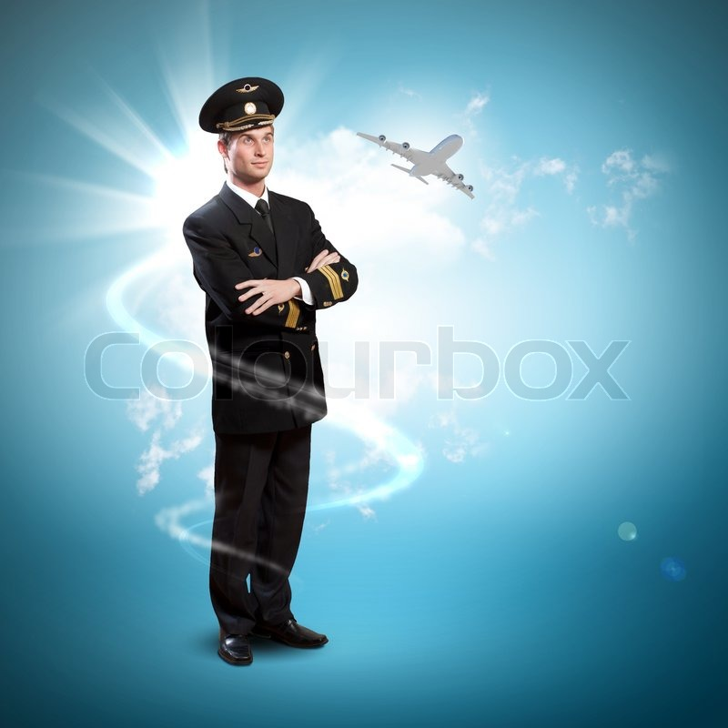 Stock image of 'Image of male pilot'