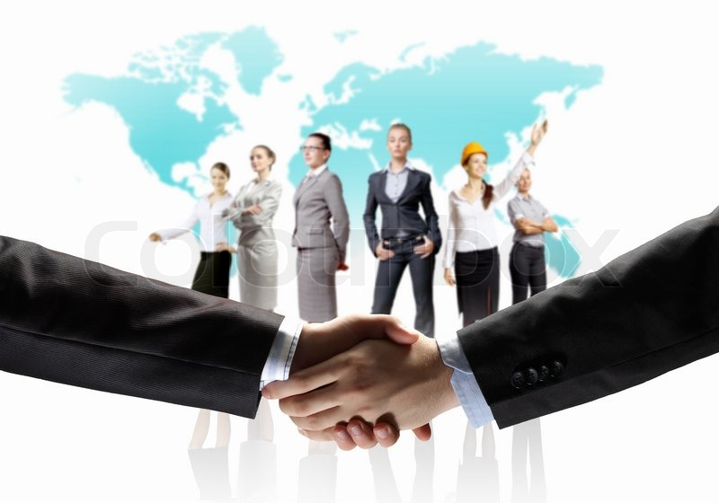 Stock image of 'Image of business handshake'