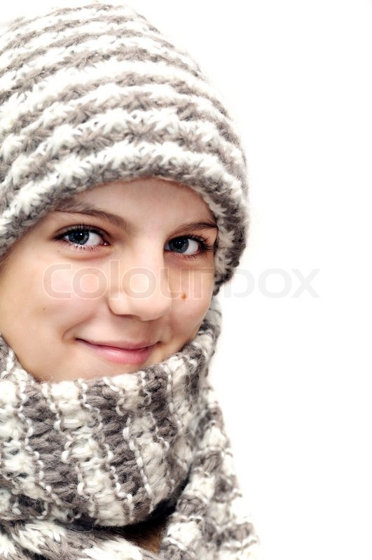 Stock image of 'Winter teenagegirl'