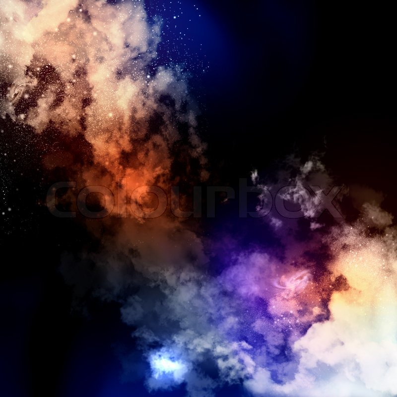 Stock image of 'Cosmic clouds of mist'