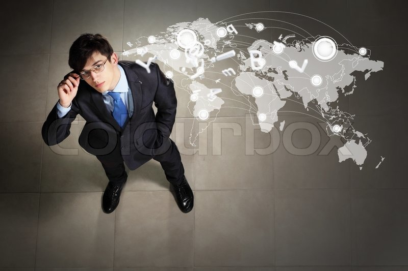Stock image of 'Image of businessman top view'