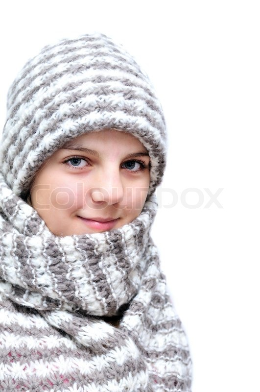 Stock image of 'Winter teenage girl'