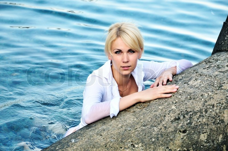Stock image of 'Lady in water'