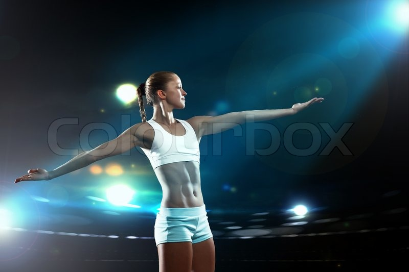 Stock image of 'Fitness woman'