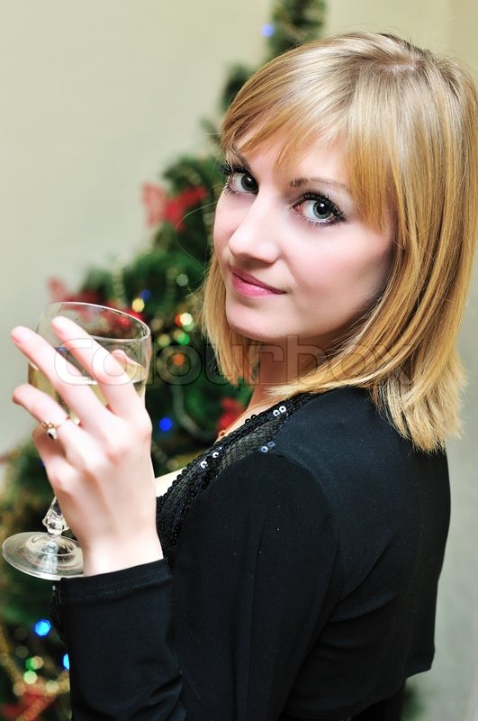 Stock image of 'Glass of wine'