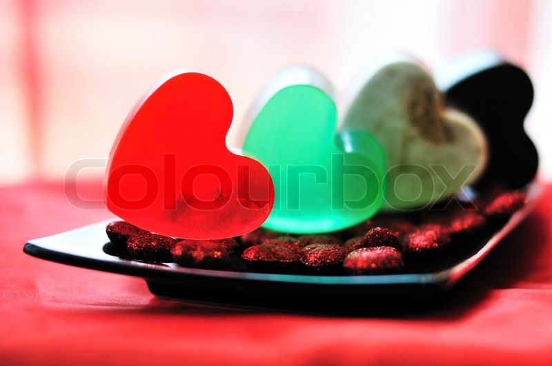 Stock image of 'Heart shaped handmade soap'