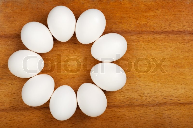 Stock image of 'Eggs are laid on the table'