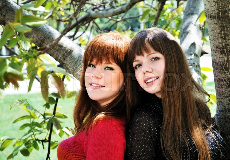 Stock image of 'Two lovely sisters'