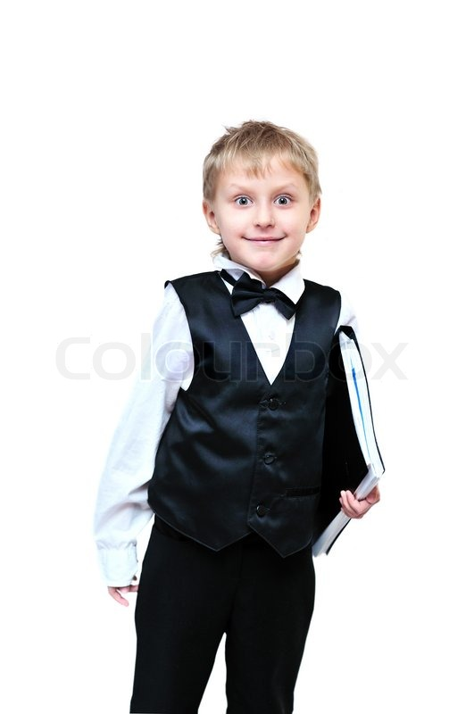 Stock image of 'Cute business boy'