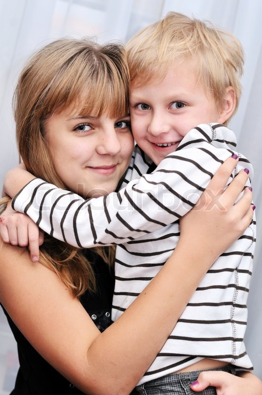 Stock image of 'Brother and sister'