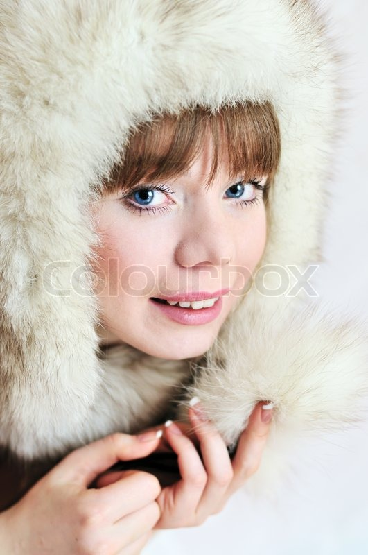 Stock image of 'In fur hat'