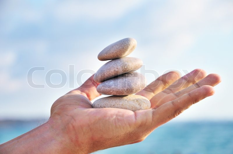 Stock image of 'Balance, harmony and idyll are in you own hands'