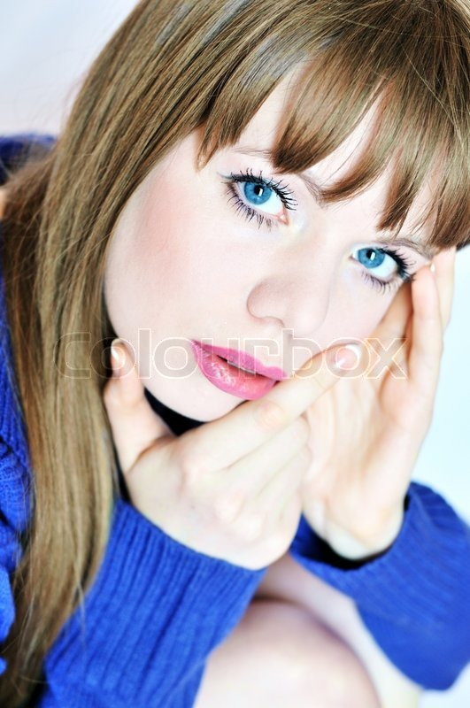 Stock image of 'Pensive girl'