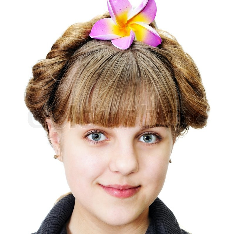 Stock image of 'Teen girl with funny hairstyle'