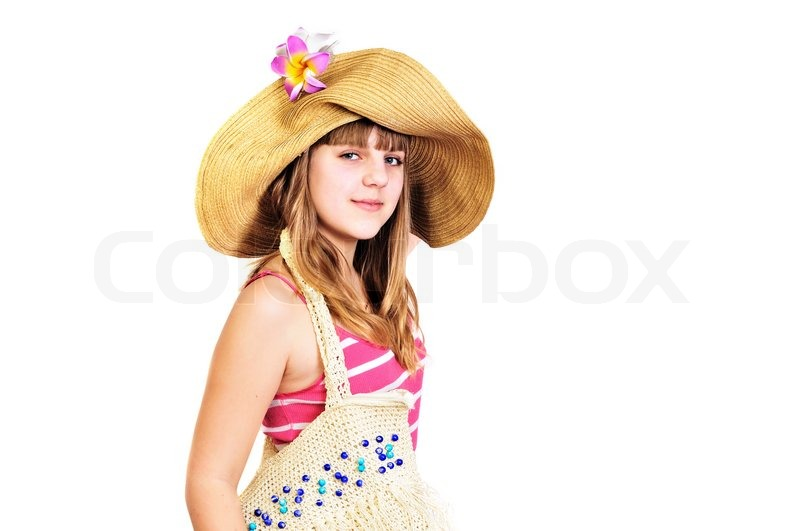 Stock image of 'Teen girl going to the beach'