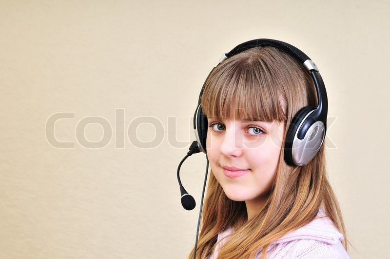 Stock image of 'Chatting girl'