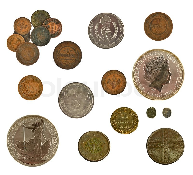 Stock image of 'Collectioncoins'