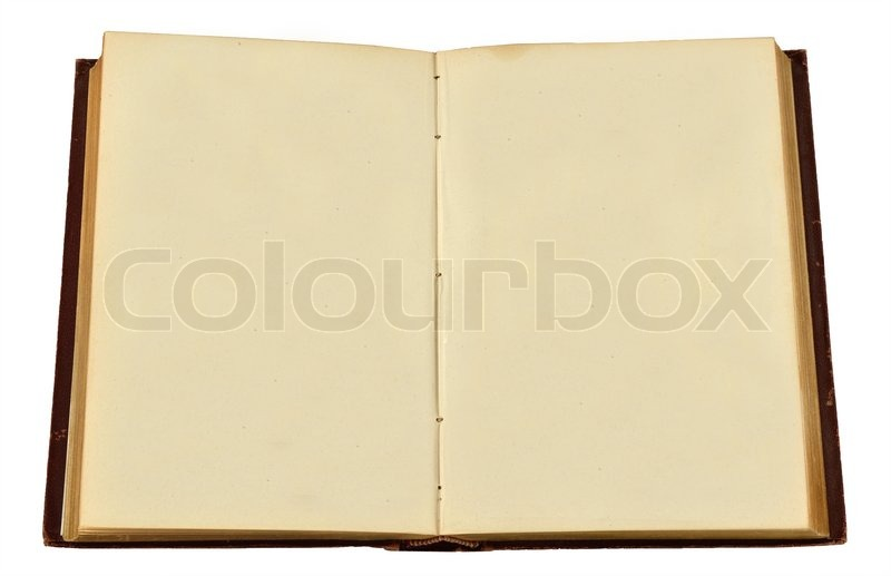 Stock image of 'antique book isolated on a white background'