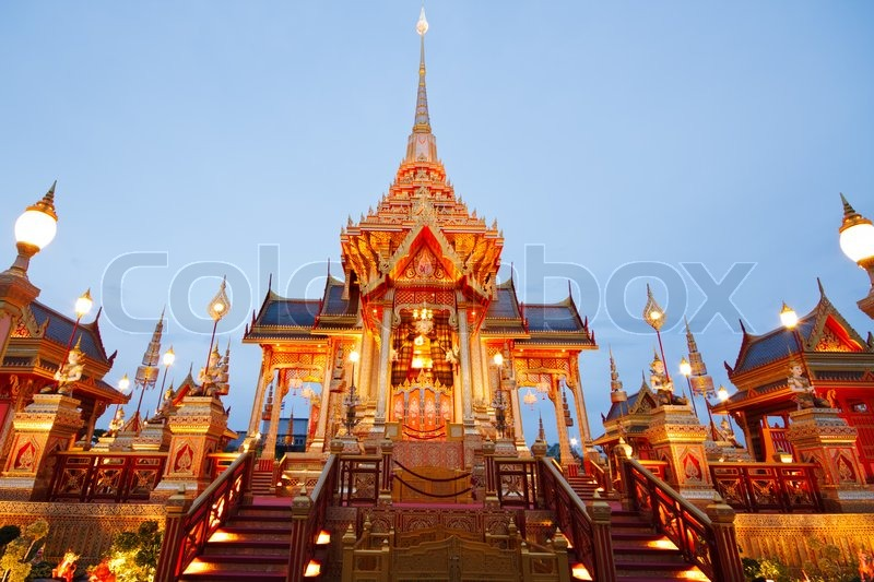 Editorial image of 'The scenery of Royal funeral architecture is well decorated for the ceremony of Princess Bejaratana Rajasuda Sirisobhabannavadi of Thailand'