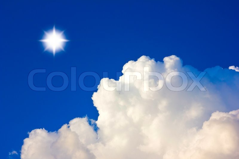 Stock image of 'Cloud background sun'