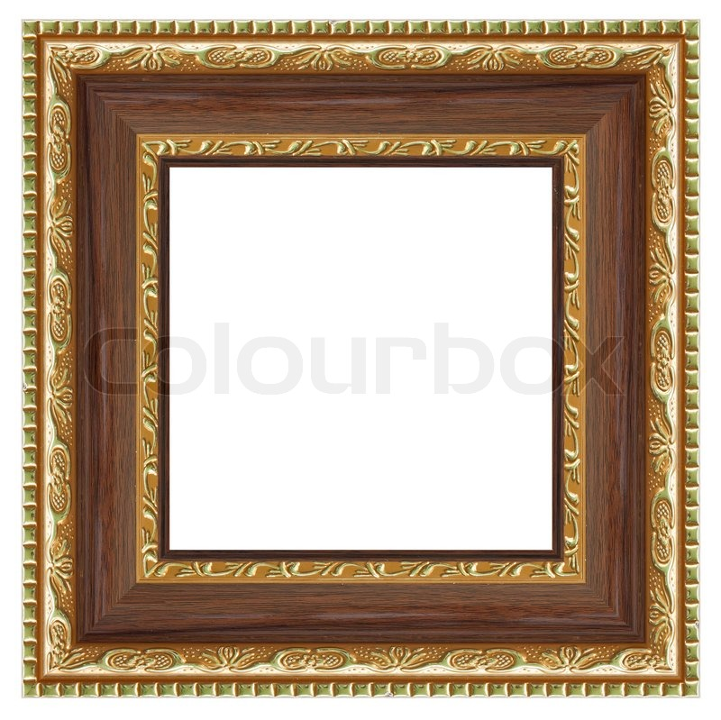 Stock image of 'Square frame for your photo isolated on white background'