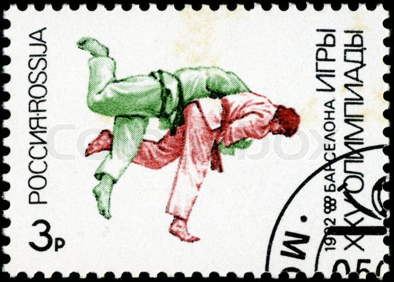 Editorial image of 'RUSSIA - CIRCA 1992: A stamp printed in Russia showing olympic games, circa 1992'