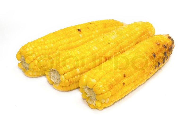 Stock image of 'Appetizer grilled corn in white background'