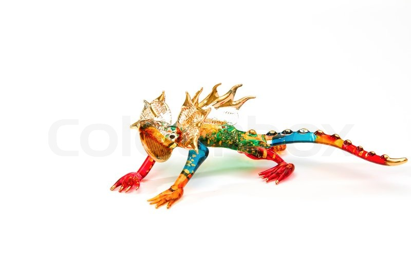 Stock image of 'Colorful chameleonBlown glass,reptile blown glass'