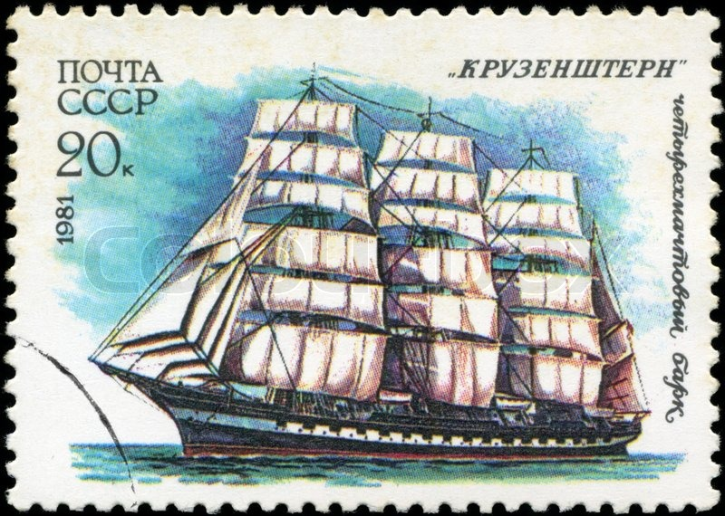 Editorial image of 'USSR- CIRCA 1981: a stamp printed by USSR, shows'
