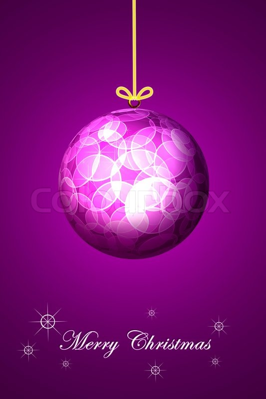 Stock image of 'Purple background Christmas ball'