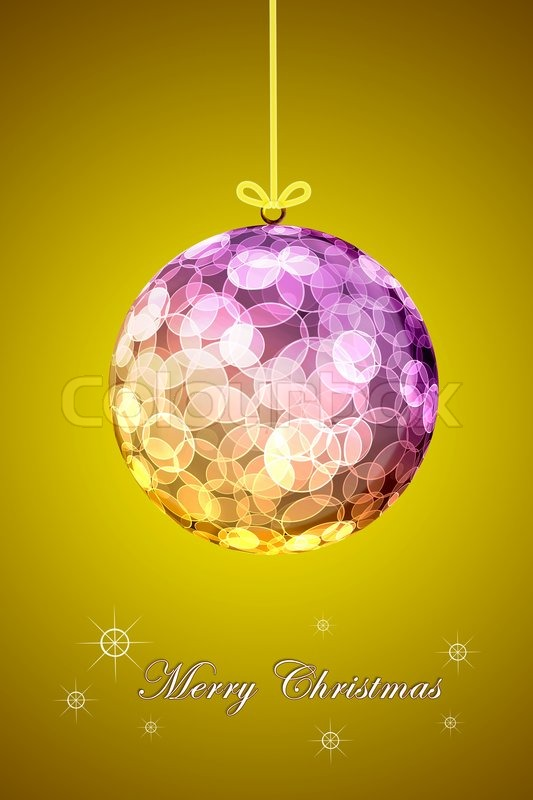 Stock image of 'Background golden Christmas balls.'