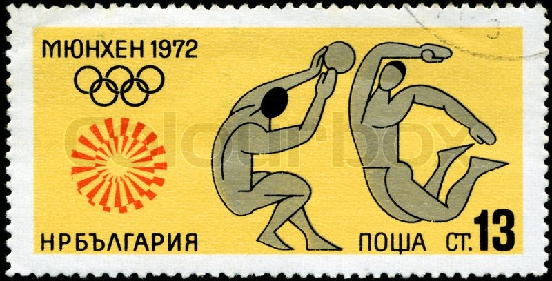 Editorial image of 'BULGARIA - CIRCA 1972: A stamp printed in BULGARIA shows Volleyball with the inscription and name of series