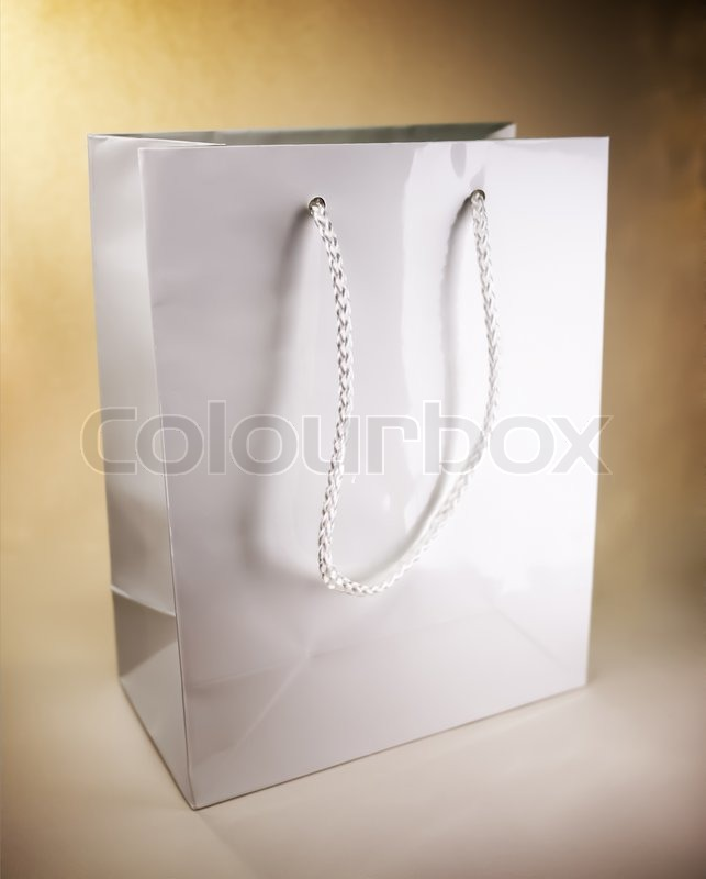 Stock image of 'White shopping bag'