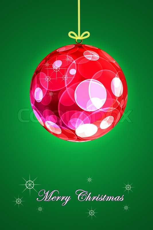 Stock image of 'Christmas ball background'