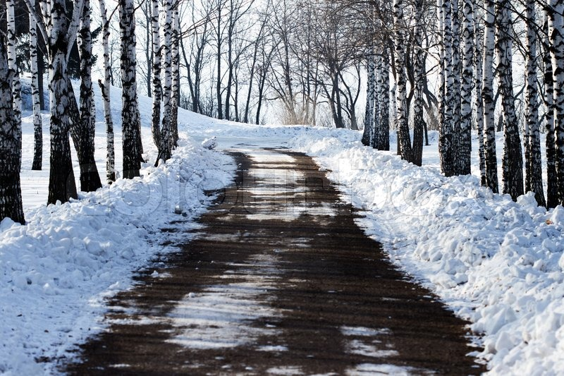 Stock image of 'Winter road'
