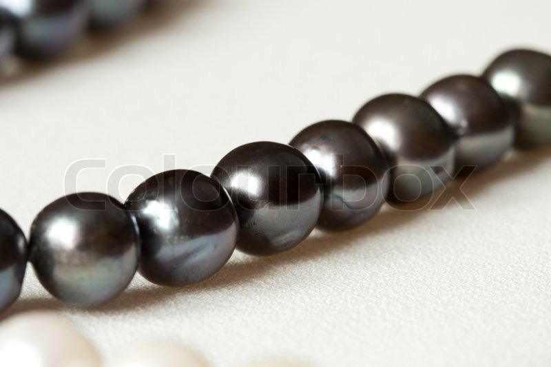 Stock image of 'Round black pearl'