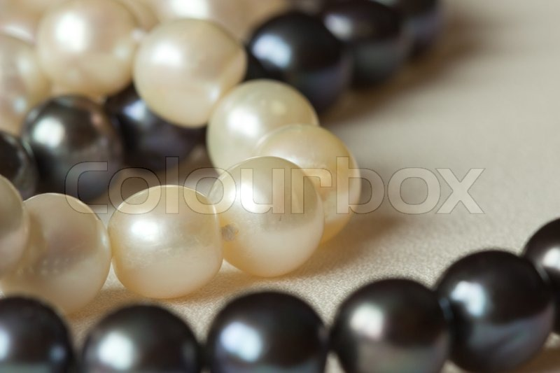 Stock image of 'Round pearls'