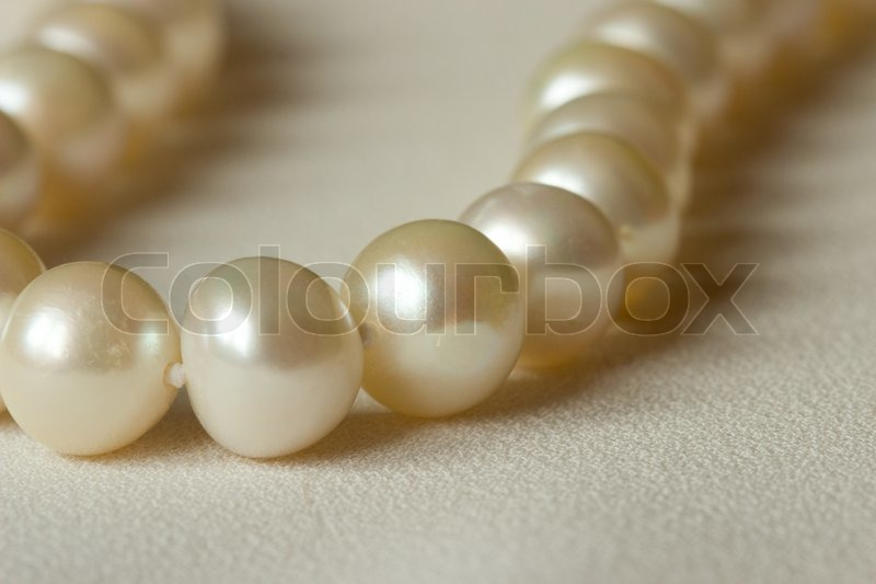 Stock image of 'White round pearls'