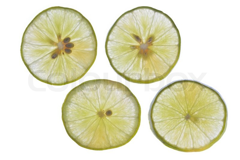 Stock image of 'Lime slices'